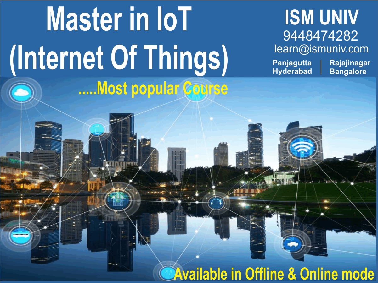 iot courses offered at ISM UNIV